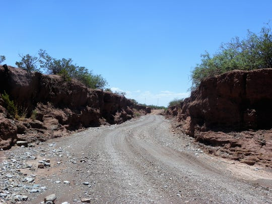 A part of Coyote Canyon Road that will be vacated by Otero County.