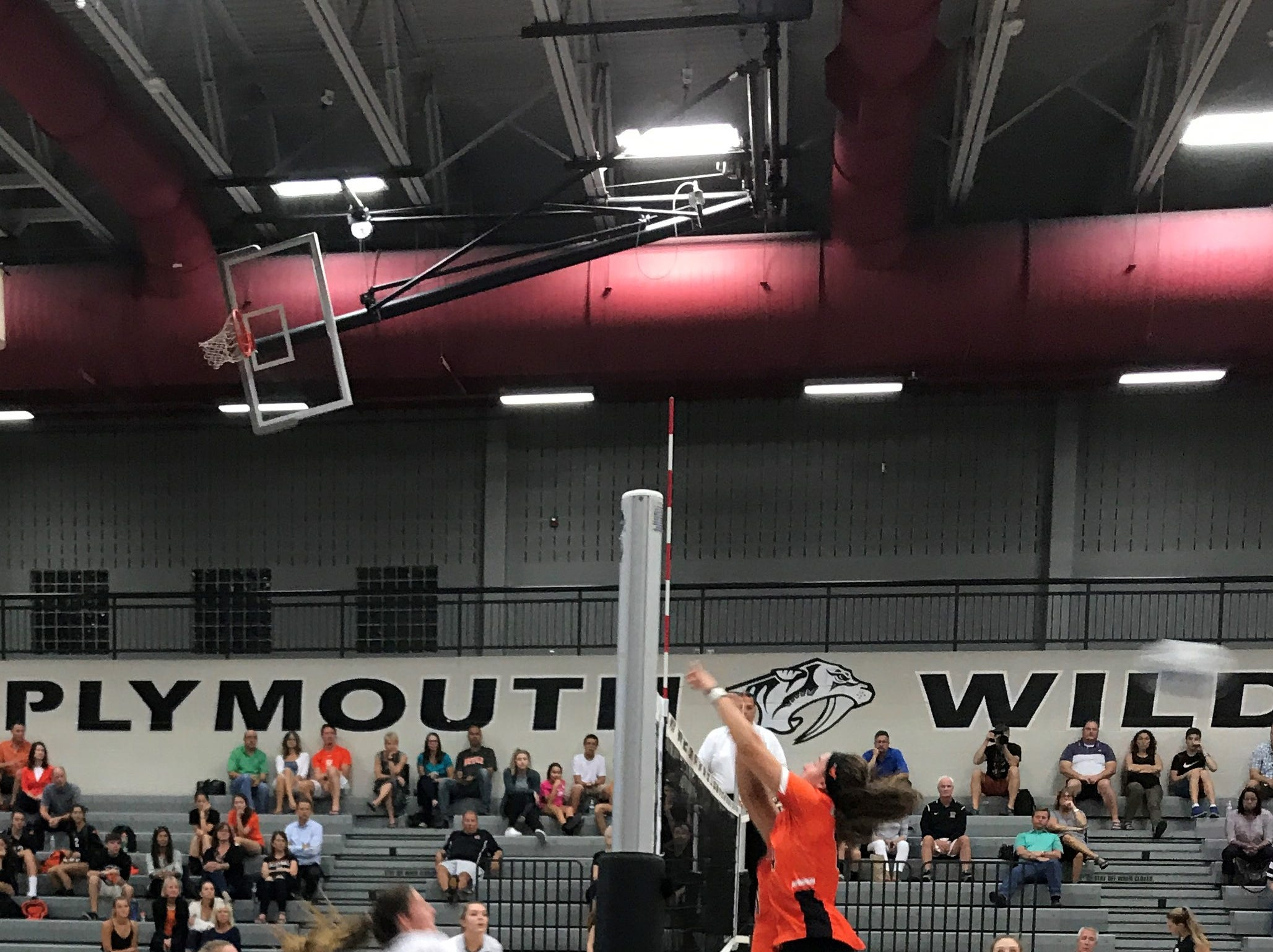 Plymouth faces Northville in a KLAA volleyball match on Sept. 13.