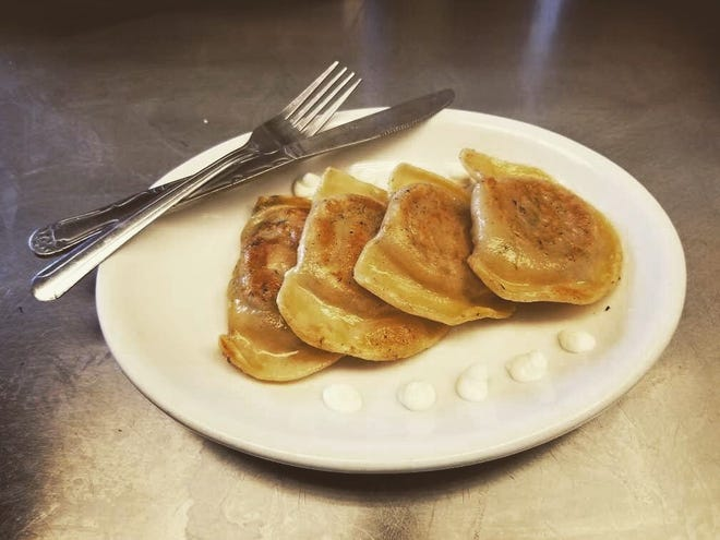 With fillings such as apple and spinach dip, these are not like your grandmother's pierogi. Pietrzyk Pierogi, a pop-up kitchen, will serve this updated Polish fare during the food truck and wine tasting event that kicks off Harvest Moon Celebration in Farmington.