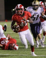 Manny Ridge ran for 408 yards and 6 touchdowns.