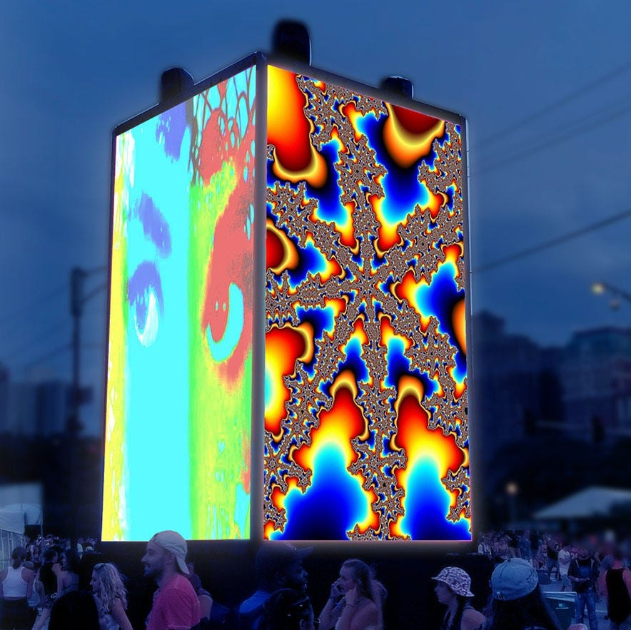 Foo Foo Festival's CUBED: Luminous expands public art into digital age
