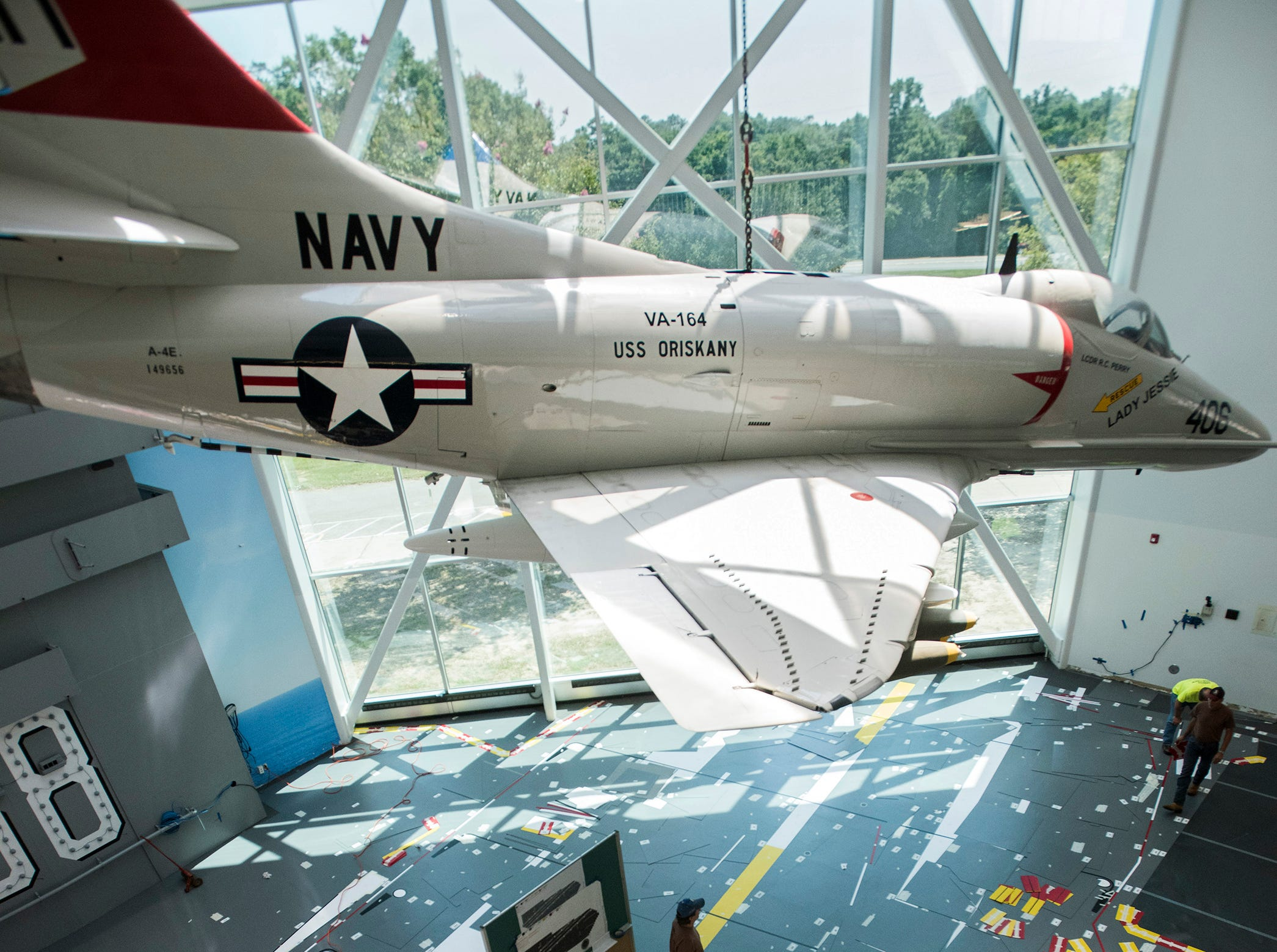 Deck of aircraft carrier USS Nimitz will greet visitors at National Naval Aviation Museum