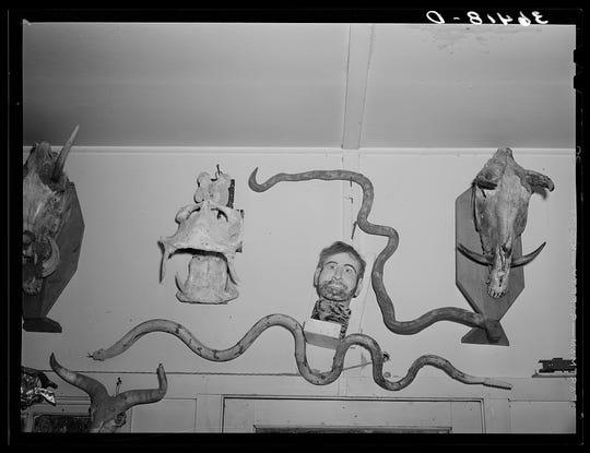 Artist Homer Tate roamed the desert for inspiration. (May 1940.)