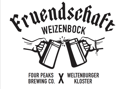 Four Peaks Brewery invited German brewery, Weltenburger Kloster, to the desert to brew a traditional, German-style, Reinheitsgebot-approved wheat beer at their 8th Street brew house. This is the Freundschaft.