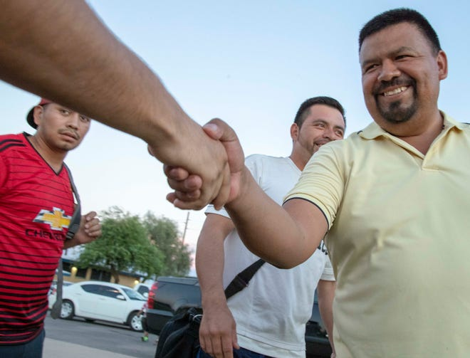 Antonio Velasquez helps organize a soccer match at Falcon Park in west Phoenix. A year ago, ICE took Velasquez into custody and placed him in a detention center in Florence. Velasquez, who has lived in the U.S. for more than 20 years, is a well-known leader in the Guatemalan community.