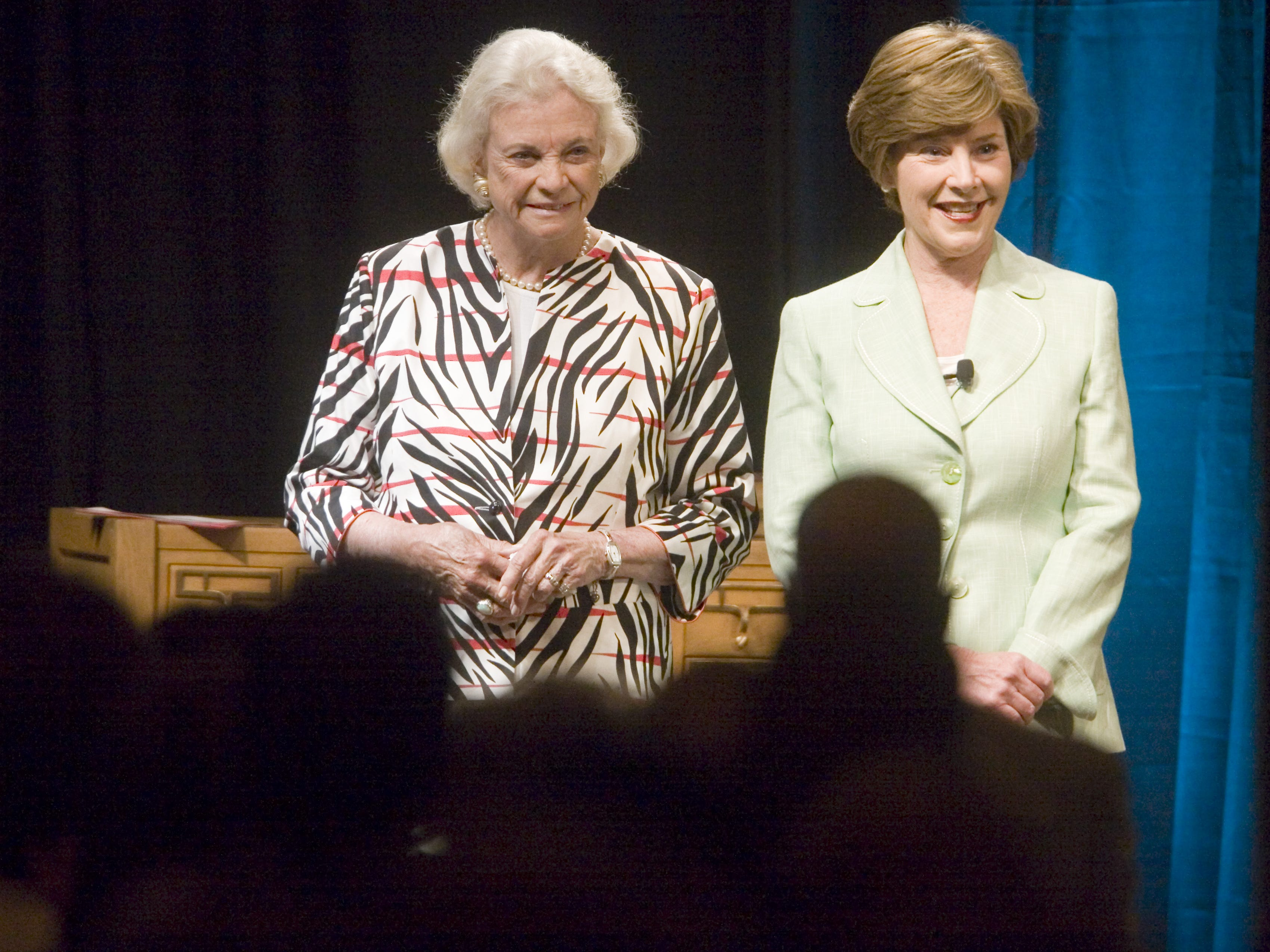 First Lady Laura Bush and retired Supreme Court Justice Sandra Day O'Connor at the awards luncheon on May 25, 2007.
