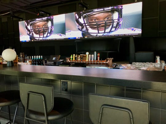 The venue at Paz Cantina includes a 26-foot television screen
