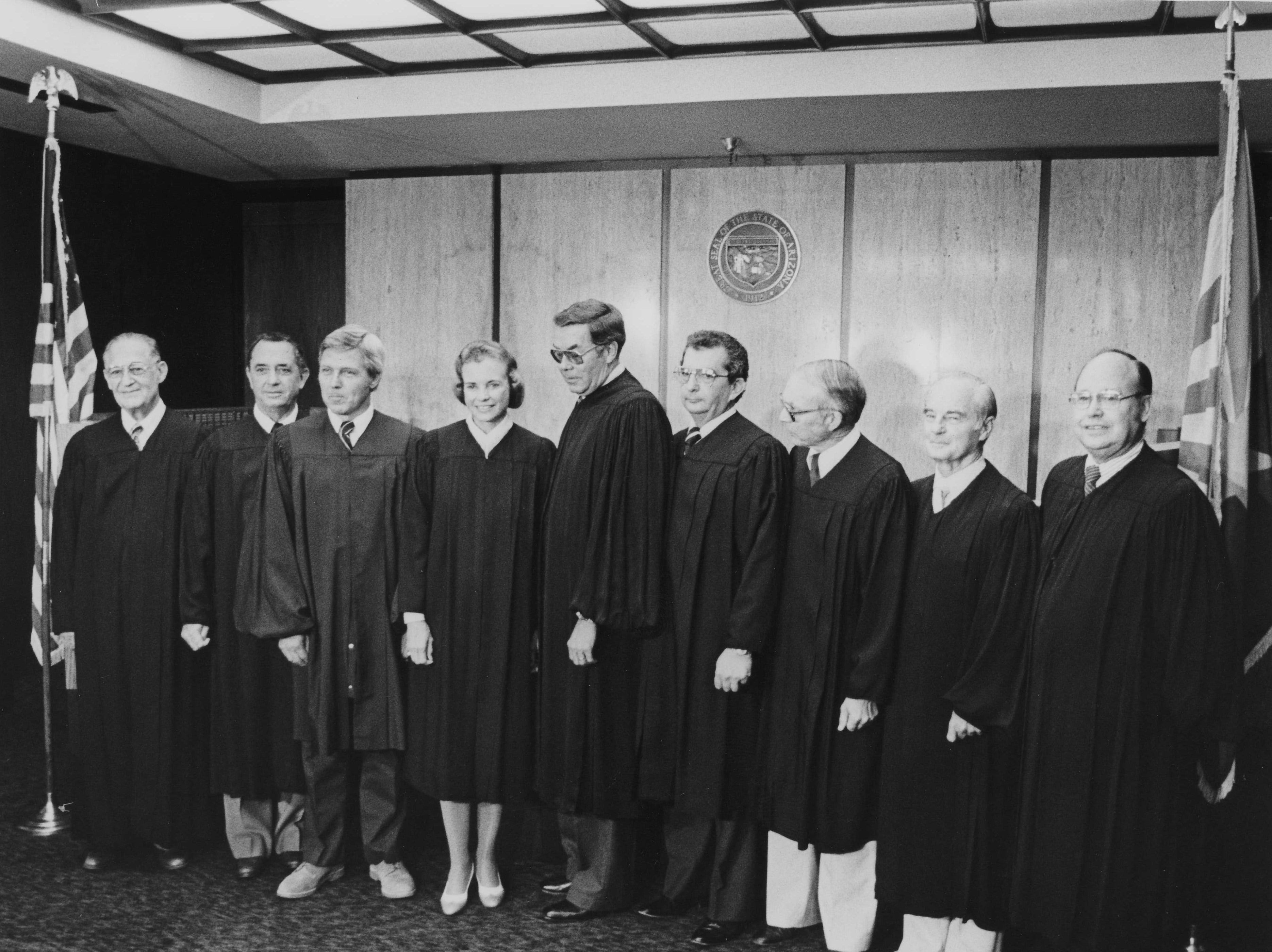 Sandra Day O'Connor and her fellow Arizona justices on July 8, 1981.