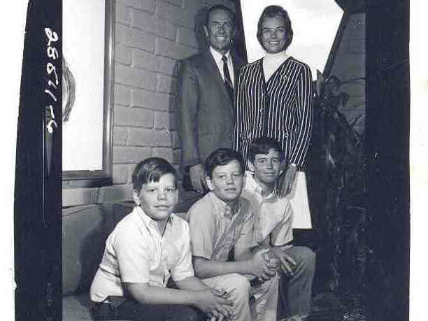 The O'Connor family at their home in an undated photo: John, Sandra, Brian, Scott and Jay.