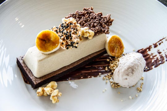 The PB Bombe dessert available at Elements at Sanctuary on Camelback during Arizona Restaurant Week 2018 includes chocolate, peanut butter macadamia nuts and Cracker Jack popcorn.