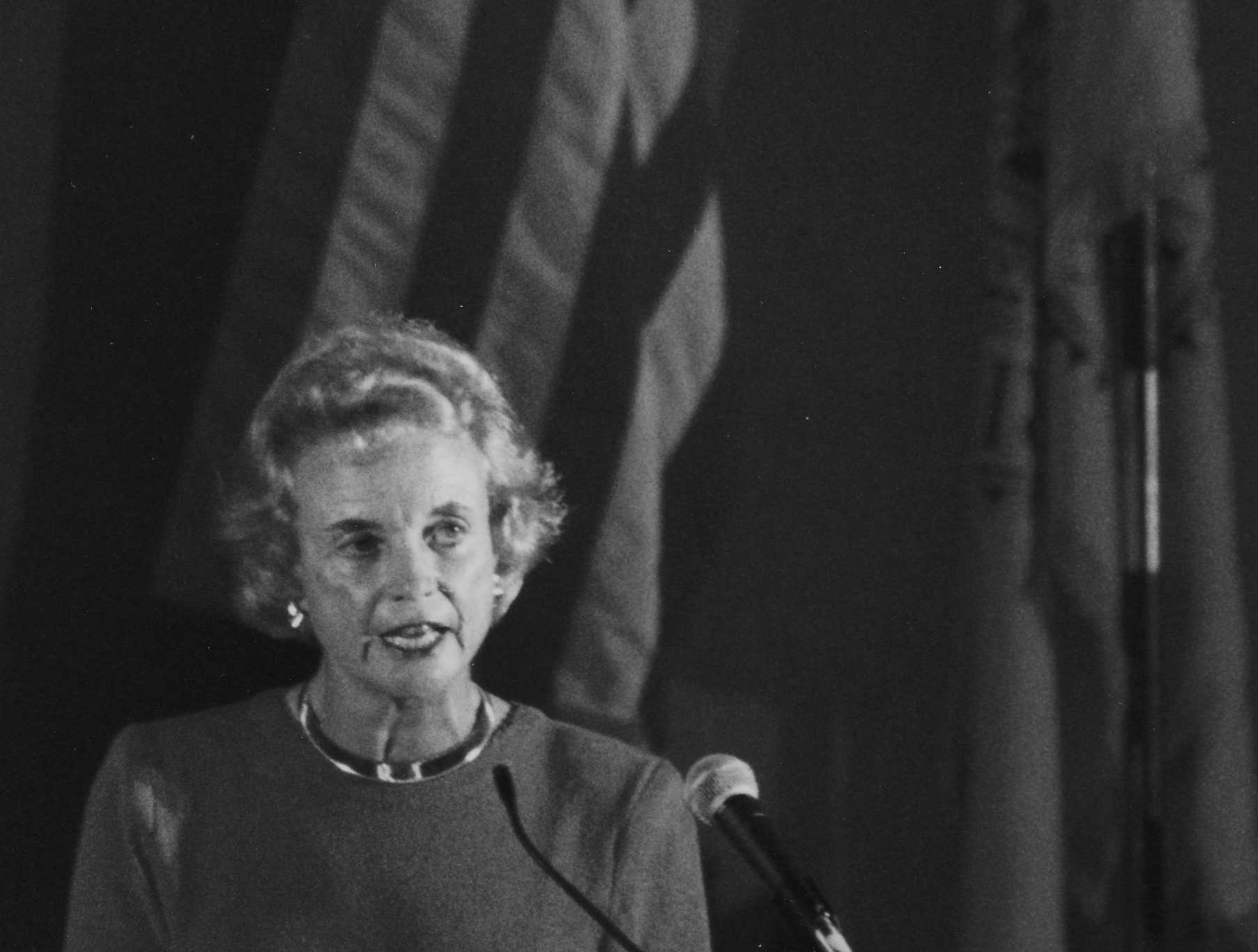 File photo of Sandra Day O'Connor at the ASU West Dedication in 1991.