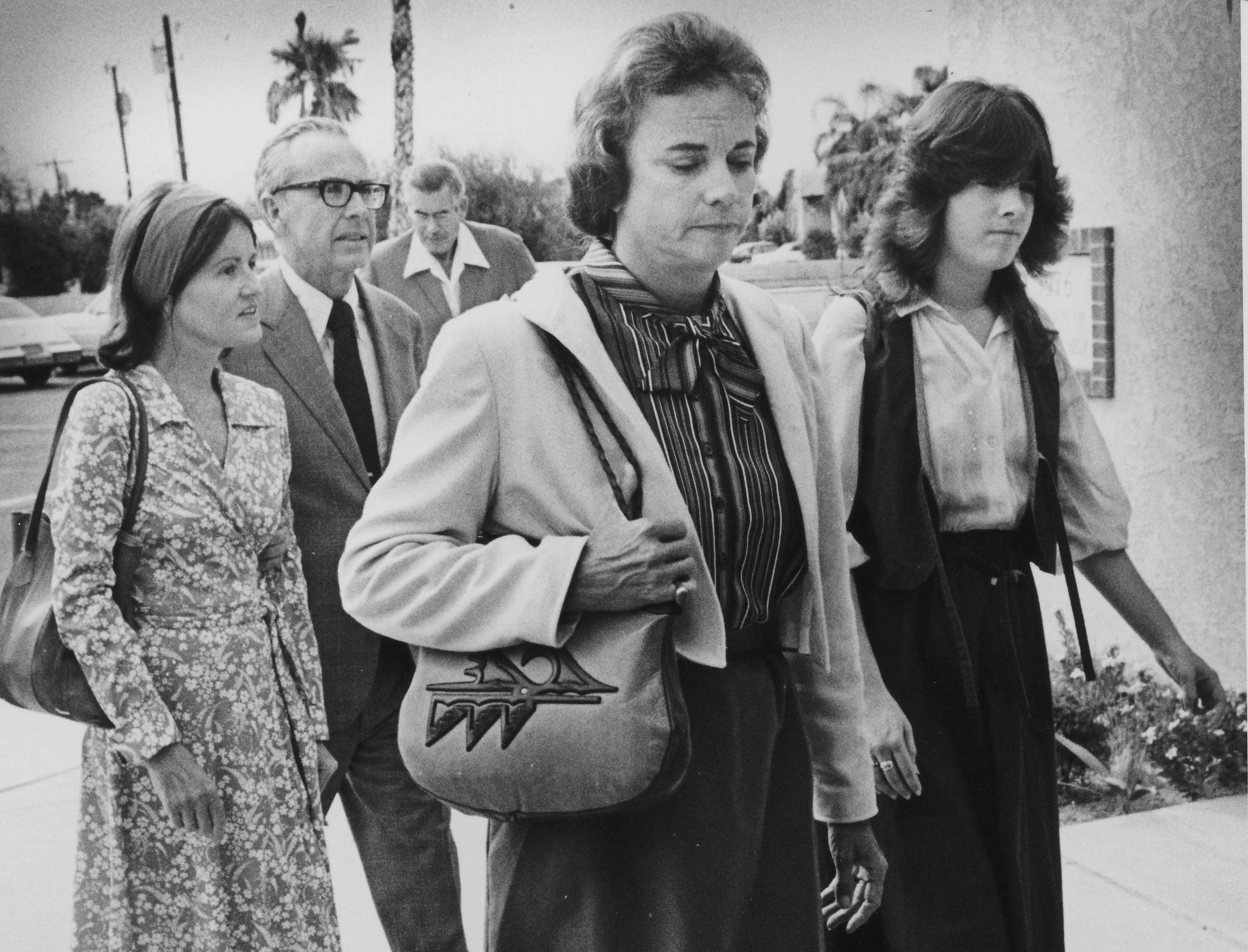 Sandra Day O'Connor at the memorial service for her mother-in-law on Sept. 22, 1981.