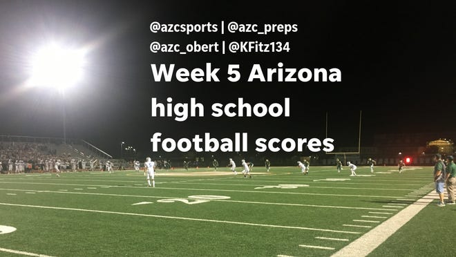 These are the scores from Week 5 of the Arizona high school football season.