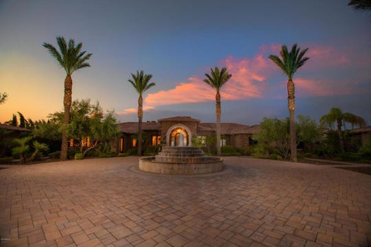 Aaron Hicks, center fielder for the New York Yankees, purchased this mansion in Paradise Valley for $4.65M.