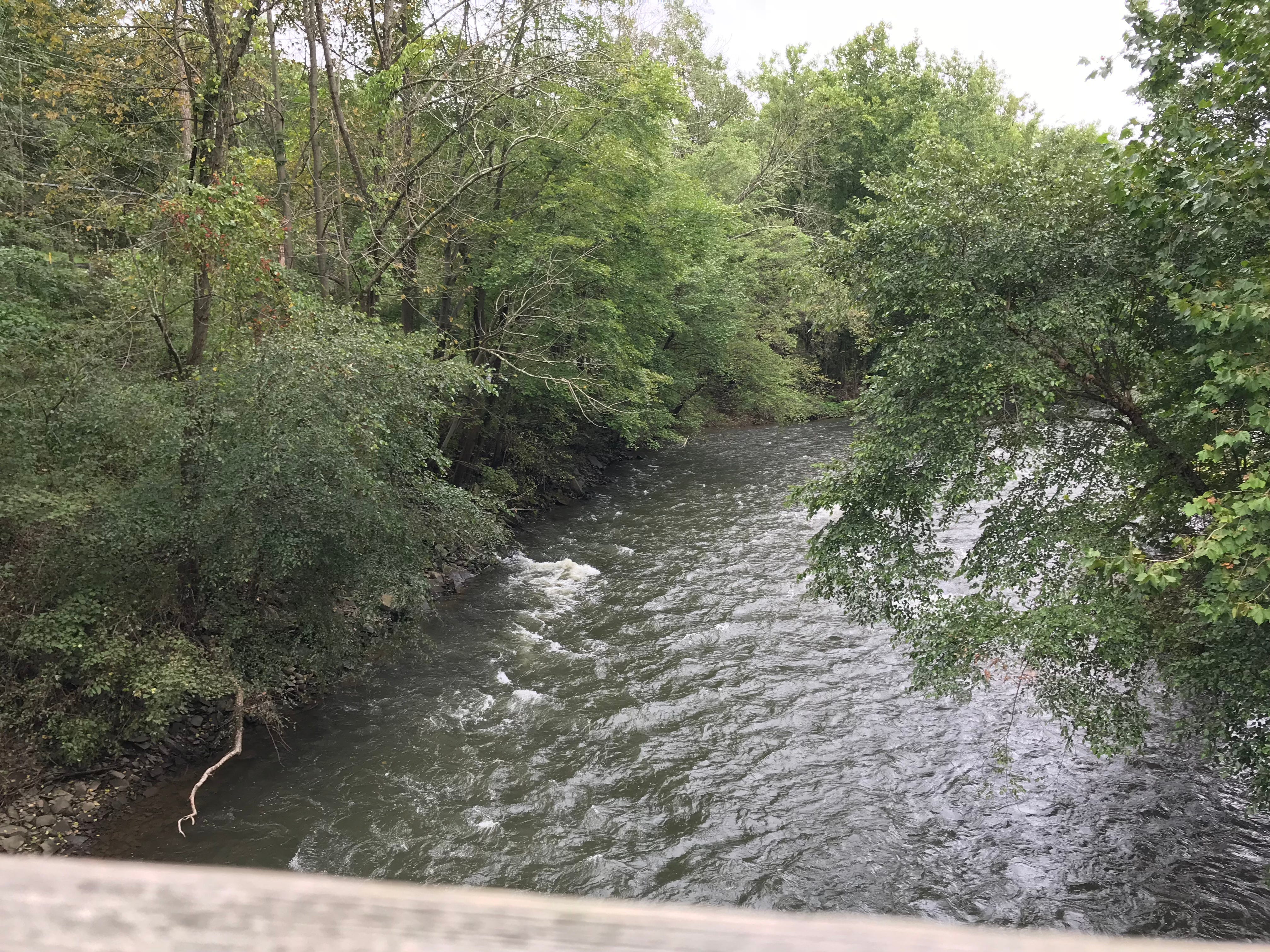 A view of Swatara Creek from a footbridge on the Swatara Rail Trail Sept. 14, 2018. Hurricane Florence could bring torrential rain and flooding to the Lebanon County area Sept. 17 and 18.