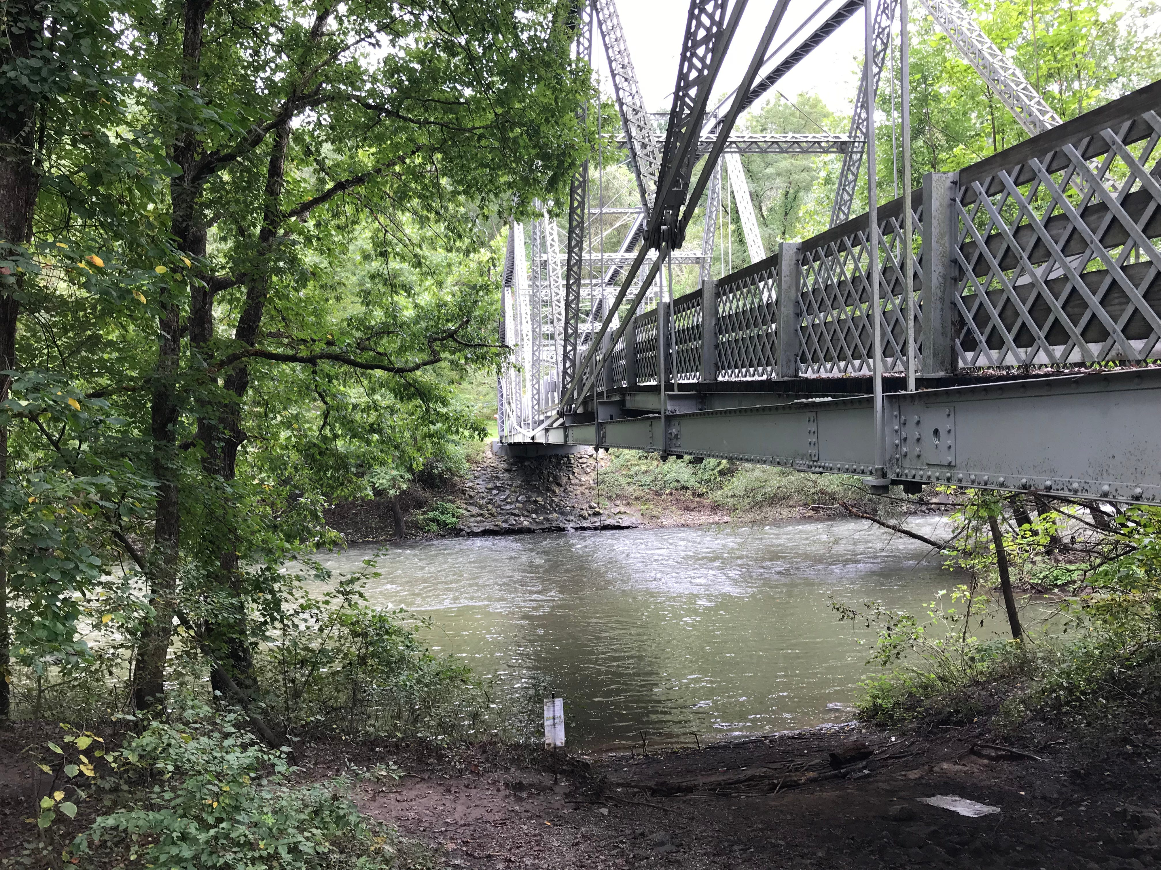 A footbridge over Swatara Creek on the Swatara Rail Trail Sept. 14, 2018.  Hurricane Florence could bring torrential rain and flooding to the Lebanon County area Sept. 17 and 18.