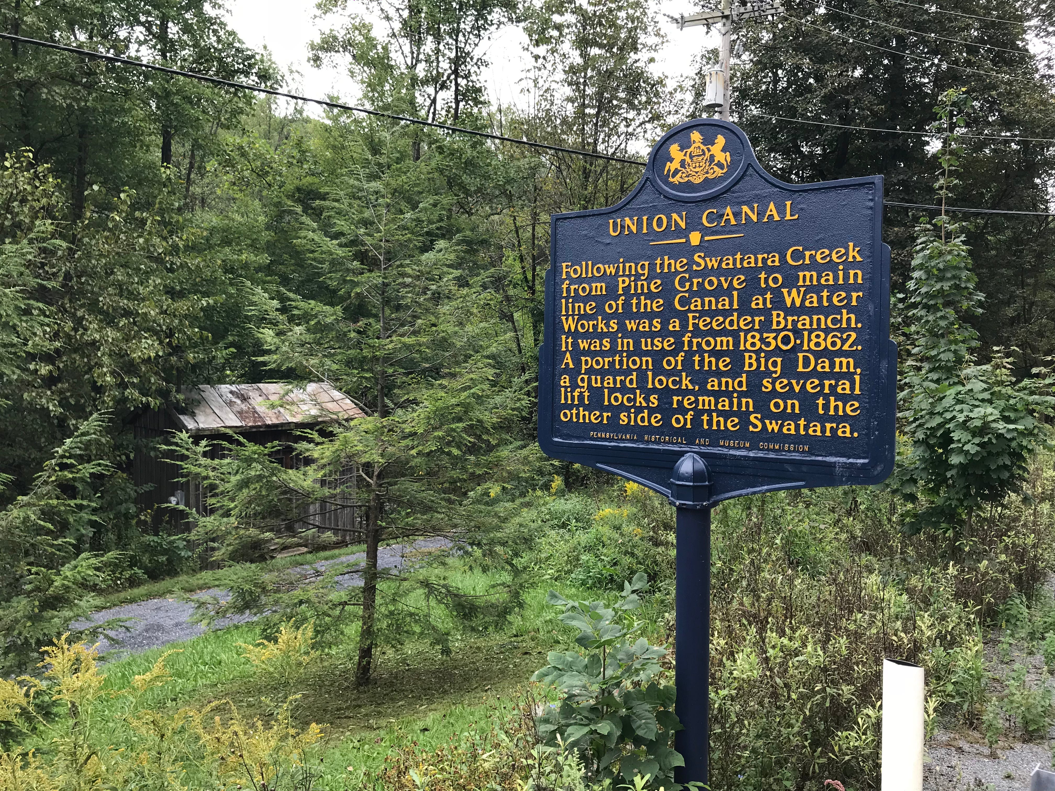 A sign along Route 72 in Swatara Township near the Swatara Rail Trail and Swatara Creek. Hurricane Florence could bring torrential rain and flooding to the Lebanon County area Sept. 17 and 18.