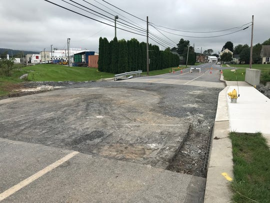 Airport Road is still closed near Horizon Drive in Fredericksburg as of Sept. 14, 2018. Floodwaters washed the bridge out Aug. 31, 2018. Hurricane Florence could be bringing more rain to the area Sept. 17 and 18.