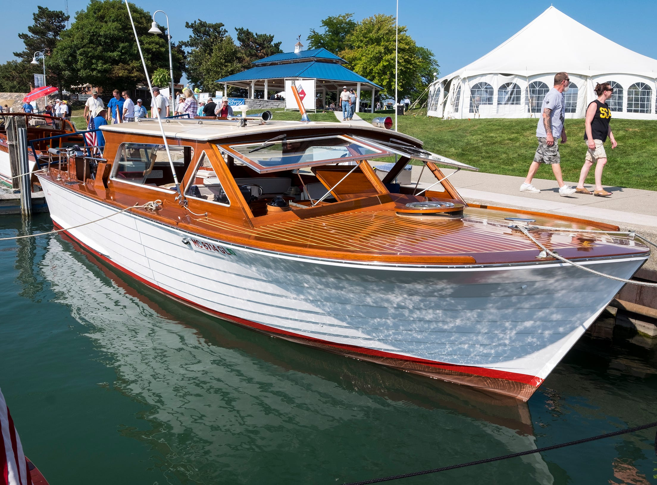 1968 Lyman Islander 30'The Frequent Flyer, a 1968 Lyman Islander, is docked Friday, Sept. 14, 2018, at River Street Marina during the 2018 ACBS International Boat Show.