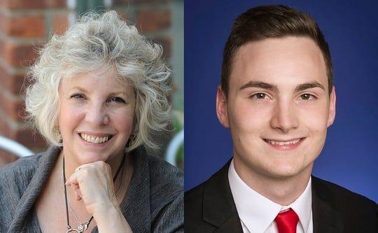 Assemblywoman Didi Barrett, left, and Dutchess County Legislator William Truitt, right.