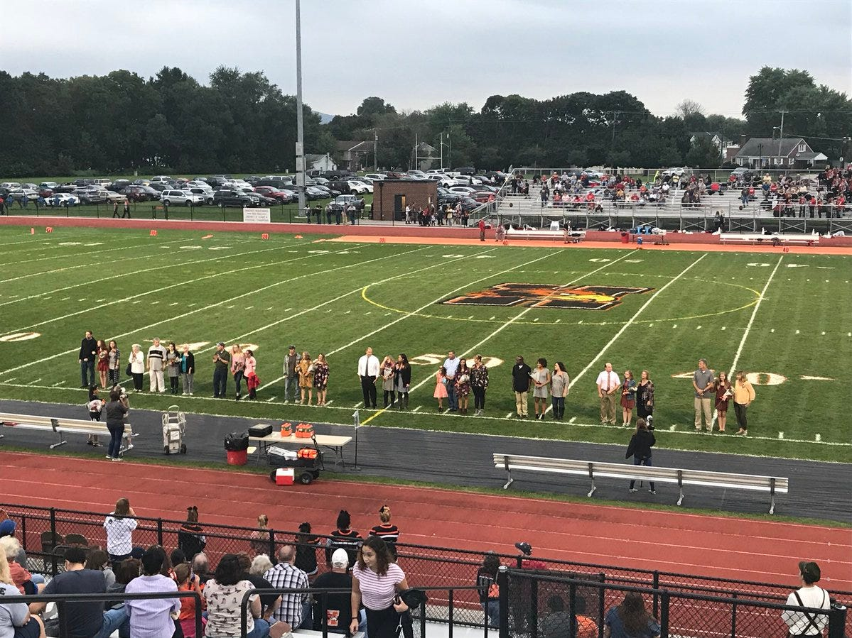 Hanover's homecoming court. Senior Elynda Garcia was crowned homecoming queen.