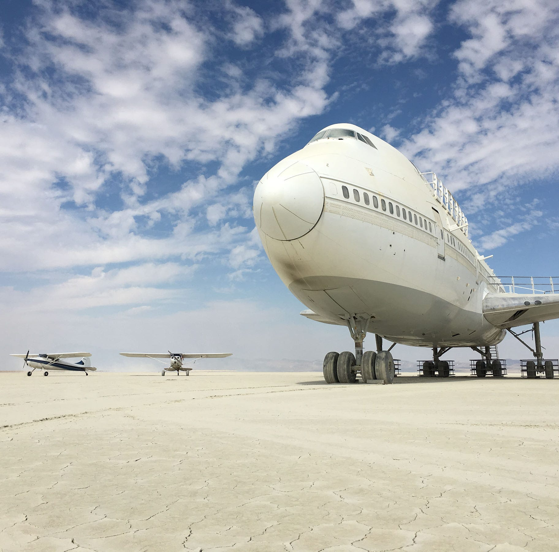 747 airplane from Burning Man still sitting in Black Rock Desert; BLM says get it out