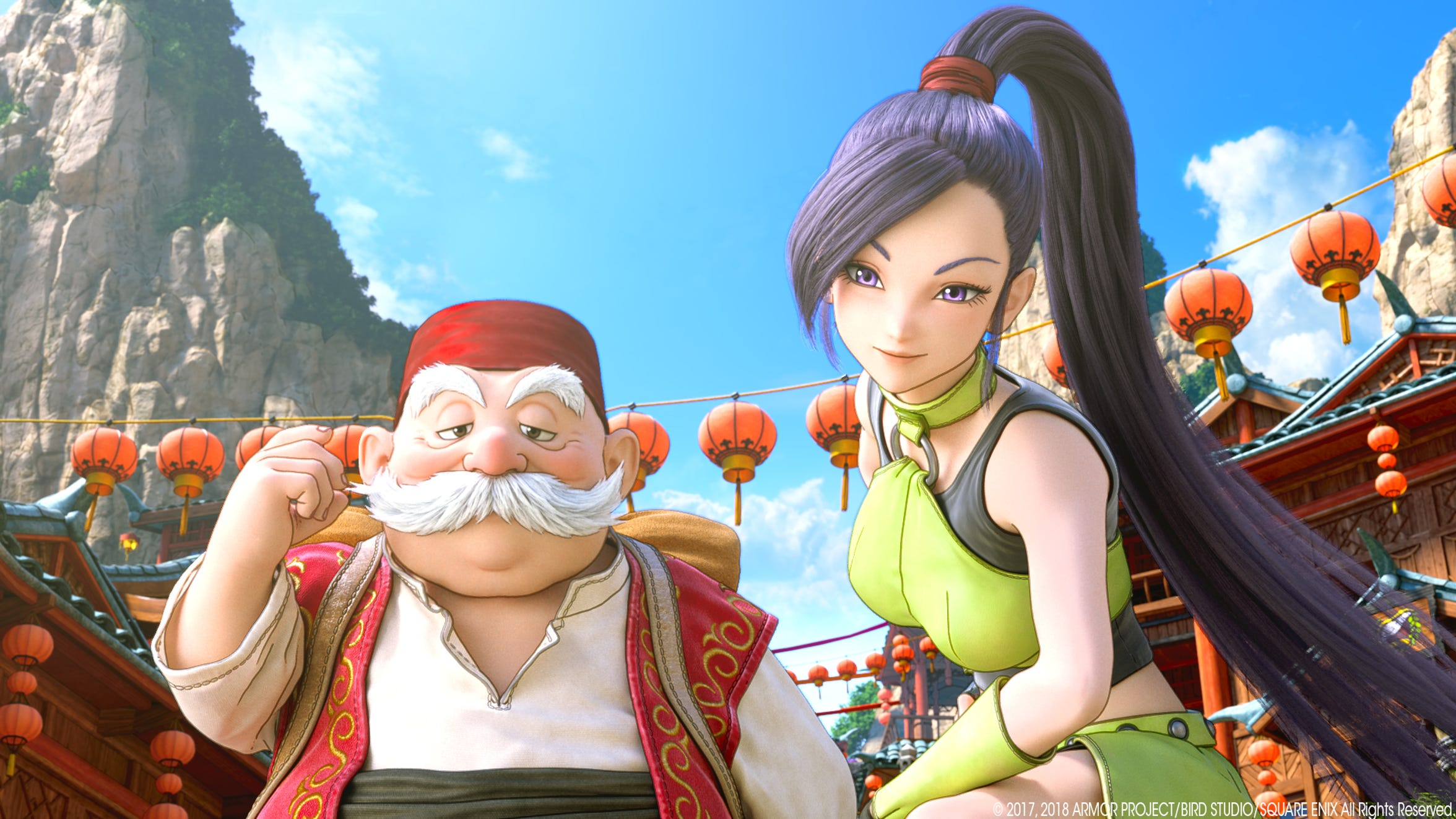 Rab and Jade of Dragon Quest XI.