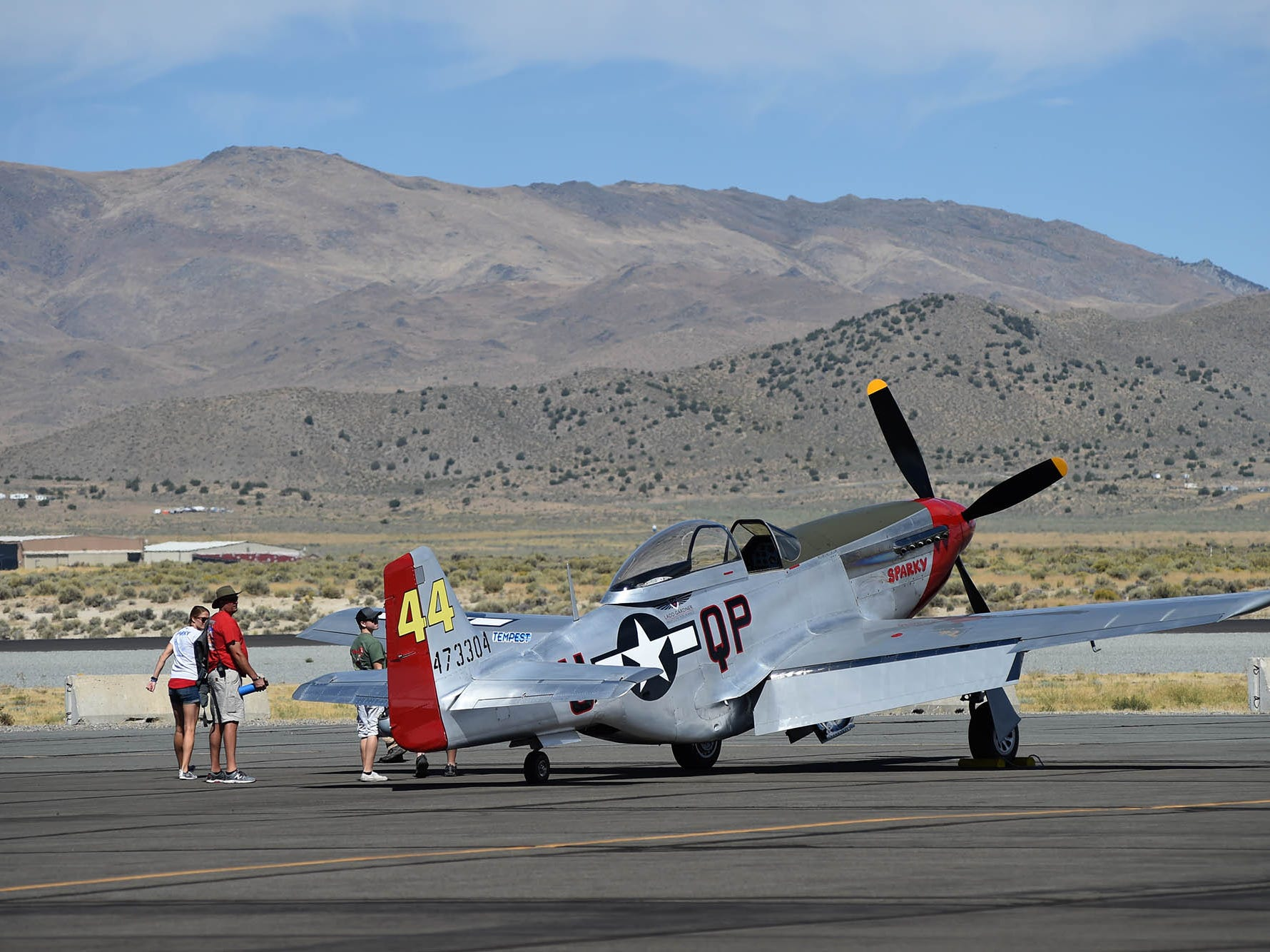Photos of airplanes and people at the 2018 National Championship Air Races.