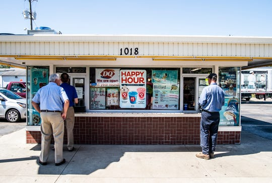 People stand in line at the Dairy Queen on Richmond's south side, 1018 S. Ninth St., on Friday, Sept. 14, 2018.
