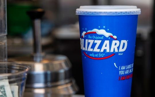 A Blizzard sits in a cup with a lid at the Dairy Queen on Richmond's south side, 1018 S. Ninth St., on Friday, Sept. 14, 2018.