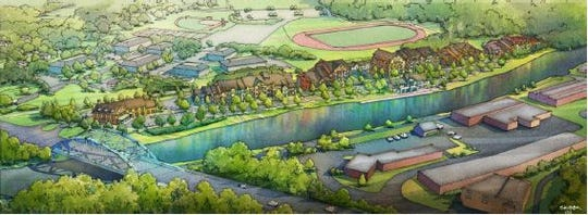 A rendering of Westport Crossing, a residential project in the review process in Pittsford.