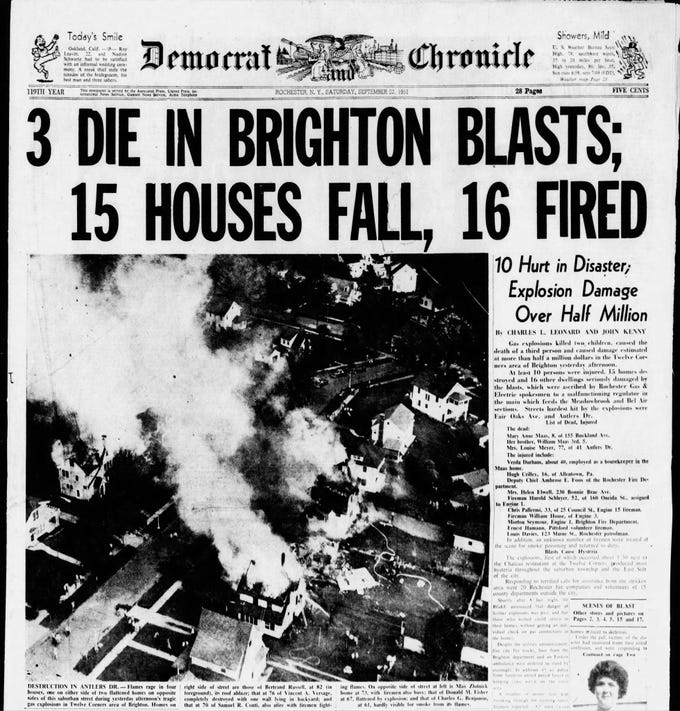 Brighton disaster front page, 9/22/1951