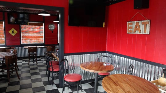 The dining room of the new Squatchy's BBQ at their brick and mortar restaurant location in Stayton, Oregon Thursday September 13, 2018.