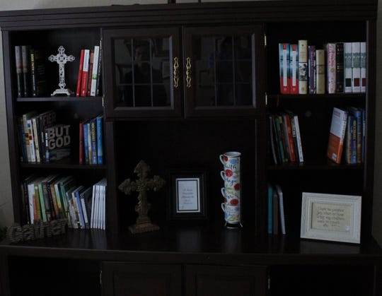 Some of the books and other items sold at The Word Script, 2808 Sherwood Way.