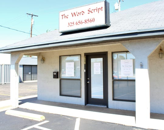 Storefront of The Word Script, 2808 Sherwood Way.