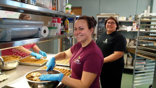 Fresh Meals On Wheels of Sheboygan County at work in the kitchen.