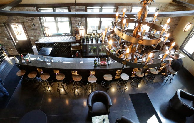 A bird's eye view inside of The Winery at The Blind Horse restaurant and winery in Kohler.