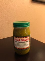 Inca Salsa's new salsa verde flavor, available for purchase at Inca Restaurant, 3312 S. Holly Ave.