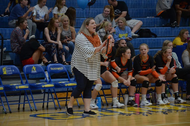 Jessica Ahlers is the head volleyball coach at Dell Rapids High School.