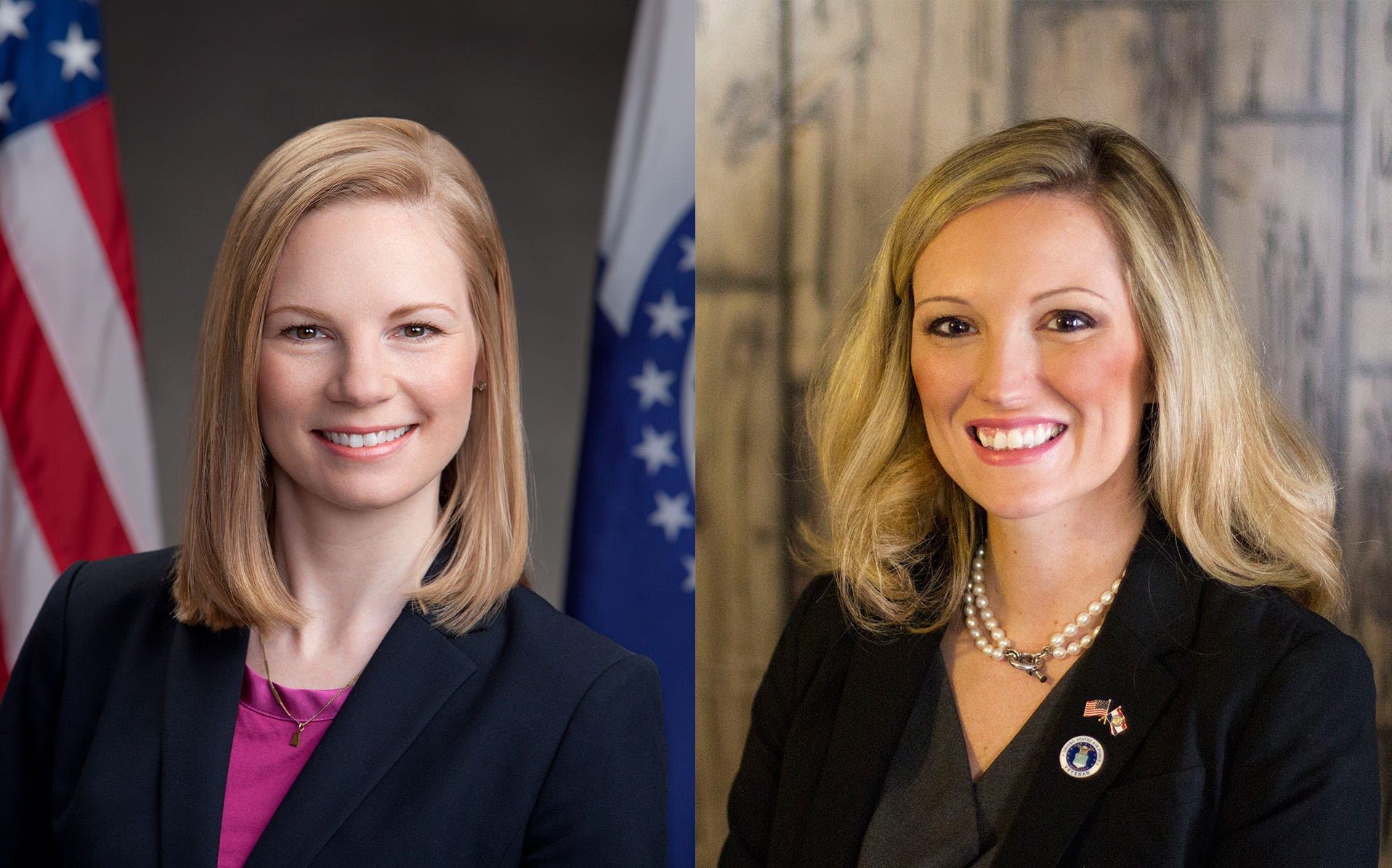 Missouri State Auditor Nicole Galloway, CPA, left, and Saundra McDowell, a candidate for Missouri State Auditor in 2018.