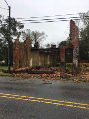 Before Hurricane Florence hit Wilmington, North Carolina, the historic H. Jaffe Building on Castle Street was intact. This photograph was taken on Friday, Sept. 14, 2018.