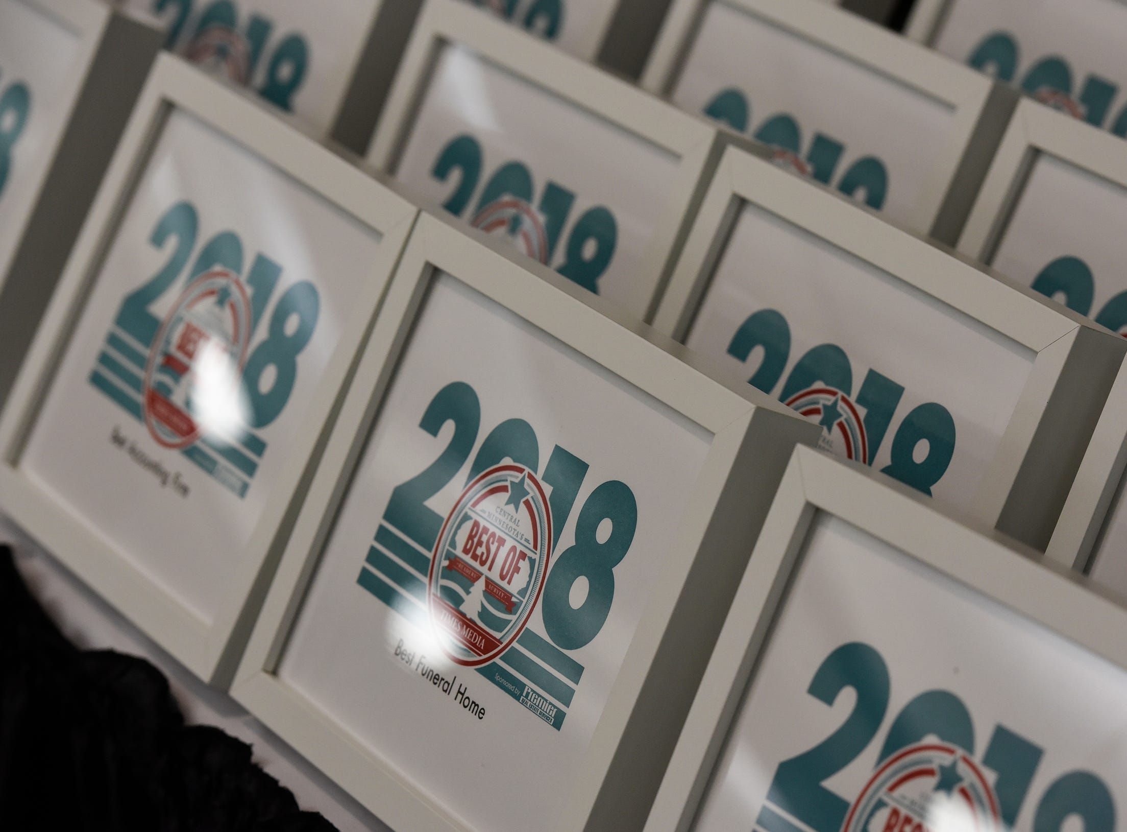 Awards are ready to be presented during the Best of Central Minnesota awards ceremony Thursday, Sept. 13, in St. Joseph.