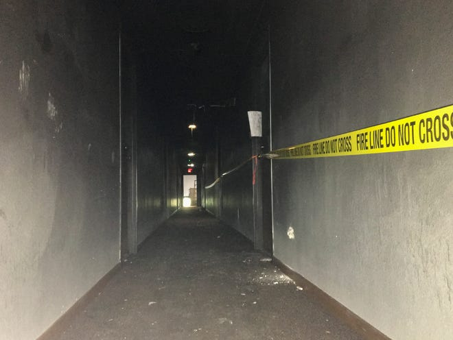A thick layer of soot coats every surface of the fourth floor in the Cedar Row apartment building at 327 Seventh Ave. S. It caught fire on Sept. 8.