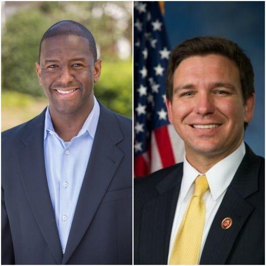 Democrat Andrew Gillum faces Republican Ron DeSantis for Florida's governor.