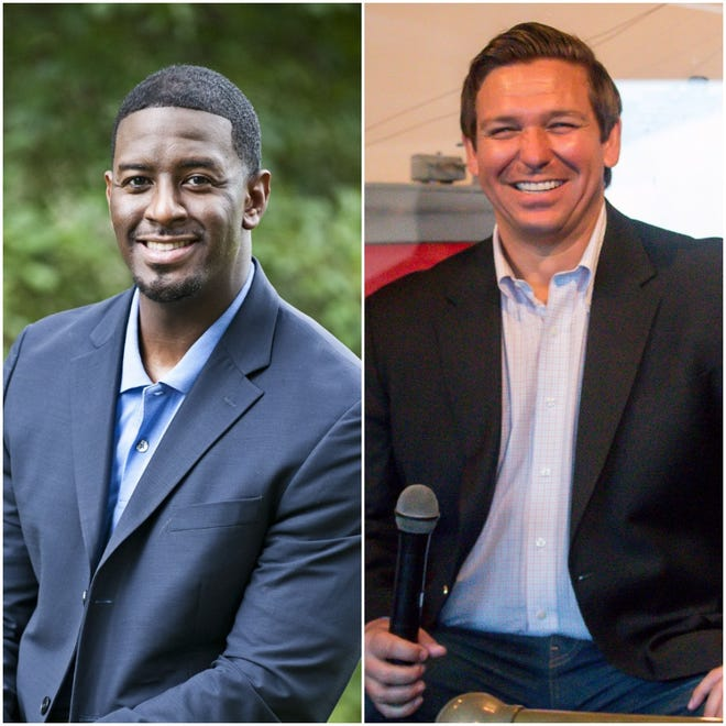 Democrat Andrew Gillum faces Republican Ron DeSantis for Florida's governor.
