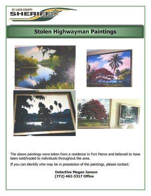 Stolen Highwaymen Paintings