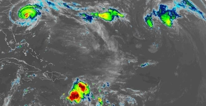 Atlantic tropical systems Sept. 14, 2018