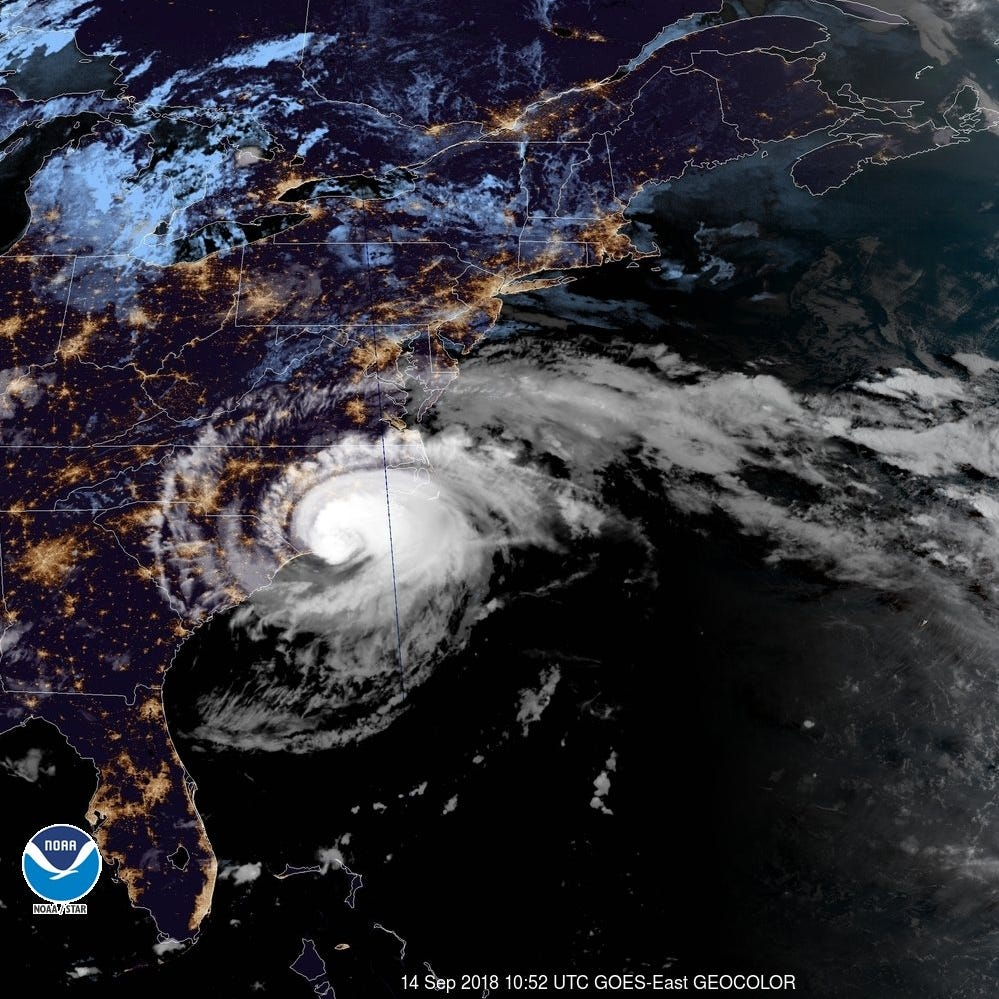Hurricane Florence's slow roll across Carolinas proving disastrous, as expected