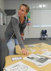 Jennifer Roberts, a special education teacher at Christa McAuliffe School, talks about the new Therapeutic Learning Classroom program started this year by the Oxnard School District.