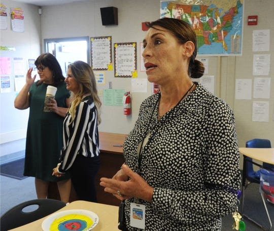 Isabel Olachea, a  special education teacher at Christa McAuliffe School, talks about the new Therapeutic Learning Classroom. The program started this year in the Oxnard School District and is  geared for students who are classified as having a difficult time regulating their emotions.
